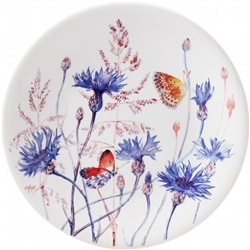 Azure Cornflower Dessert Plate by Gien France