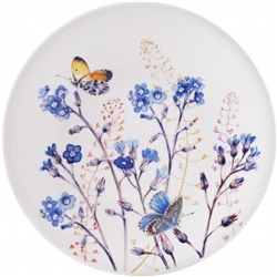 Azure Forget Me Not Dessert Plate by Gien France