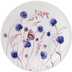Azure Devil's Bit Dessert Plate by Gien France