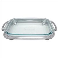 Classic Oblong Casserole Caddy with Pyrex by Mariposa