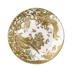 Aves Gold Salad Plate by Royal Crown Derby