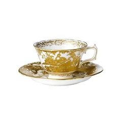Aves Gold Tea Cup by Royal Crown Derby