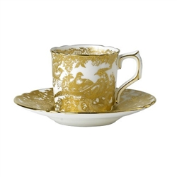 Aves Gold Tea Saucer by Royal Crown Derby