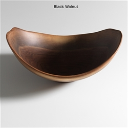 "Live Edge 17"" Black Walnut Bowl by Andrew Pearce"