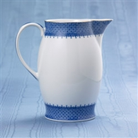 Blue Lace Pitcher by Mottahedeh