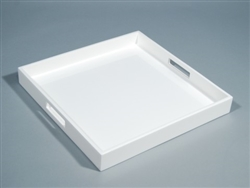 "White Square Serving Tray (16"") by Pacific Connections"