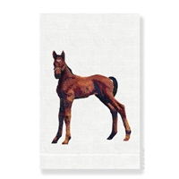 Anali - Foal White Guest Towel