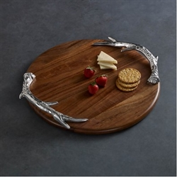 Western Antlers Round Cutting Board - Beatriz Ball
