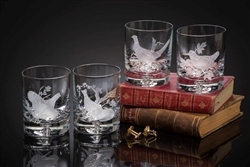 Upland Game Birds Old Fashion Glasses by Julie Wear