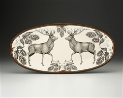 Fish Platter with Red Buck by Laura Zindel Design