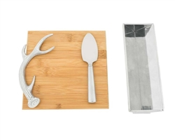 Antler Bamboo Cheese Set by Arthur Court Designs
