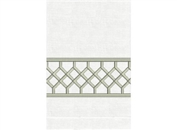 Anali - Chippendale Linen Guest Towel (Silver/White)