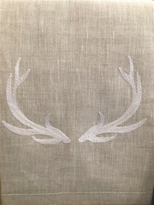 Anali-Elk on Oat Linen Guest Towel