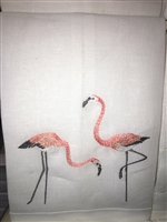 Anali - Flamingo White Guest Towel