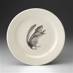 Chipmunk #1 Salad Plate by Laura Zindel Design