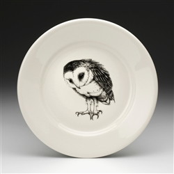 Barn Owl Salad Plate by Laura Zindel Design