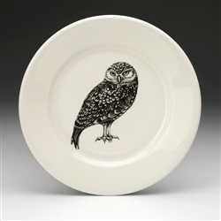 Burrowing Owl Salad Plate by Laura Zindel Design