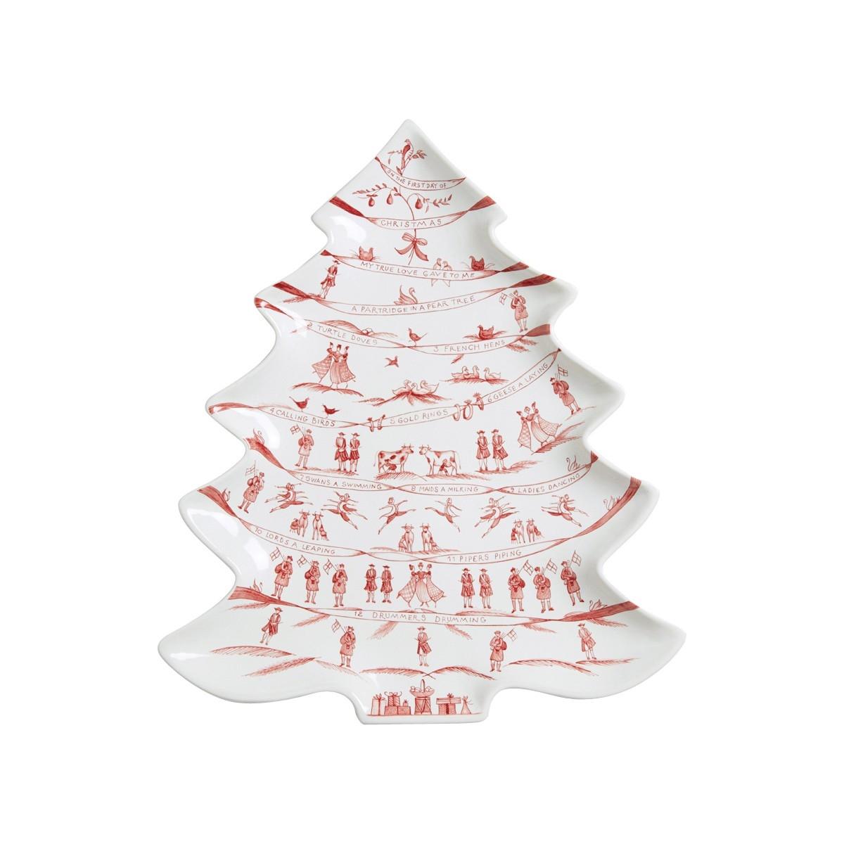 Juliska - Country Estates Winter Frolic Ruby Tree Platter