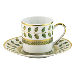 Constance Green Coffee Saucer by Bernardaud