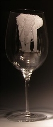 Elephant Wine Glass (26 oz) - Evergreen Crystal