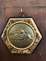 Gilt Frame with Painted Frame with Polo Coin