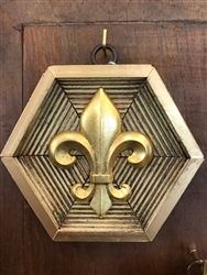 Gilt Frame with Fleur de Lis by Museum Bees