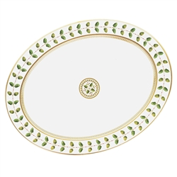 Constance Green Large Oval Platter by Bernardaud
