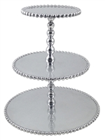 Pearled 3 Tiered Cupcake Server by Mariposa