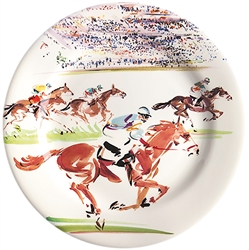 Cavaliers Race Dessert Plate by Gien France