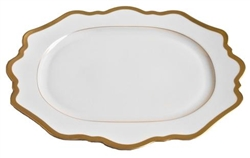 Antique White Oval Platter by Anna Weatherley
