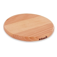 "9"" Round Magnetic Wooden Trivet by Staub"