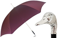 Silver Mallard Umbrella by Pasotti