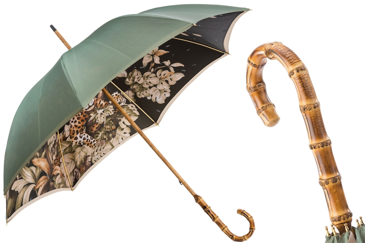 c4107298775dc Pasotti - Green Umbrella with Leopard Scene Interior