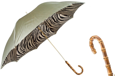 Pastel Green Umbrella with Zebra Interior by Pasotti