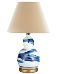 Small Blue Brush Stroke Lamp by Bunny Williams Home