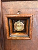 Anchor and Compass with Wood Frame by Museum Bees