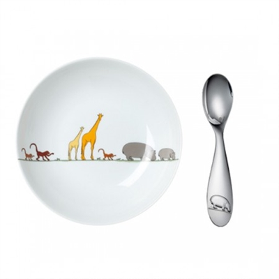 Savane  Cereal Bowl and Spoon by Chirstofle