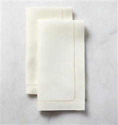 Classico White Dinner Napkins with Custom Monogram (Set of Four) by SFERRA