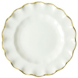 Chelsea Duet Fluted Dessert Plate by Royal Crown Derby