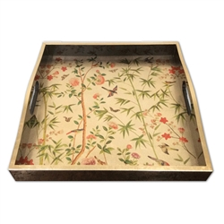 Chinese Wallpaper Bar Tray by Caspari