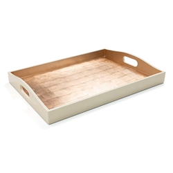 Gold and Ivory Rectangular Tray by Caspari