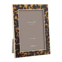 "Faux Tortoise Gold Frame  (4""x6"") by Addison Ross"