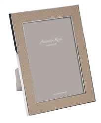"Faux Shagreen Sand 5""x7"" Frame by Addison Ross"