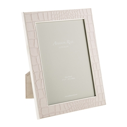 "Faux Croc Cream 5""x7"" Frame by Addison Ross"