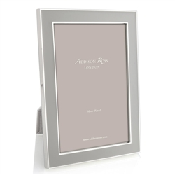 "Chiffon Grey and Silver Frame (5""x7"") by Addison Ross"