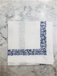 Mortimer Liberty on White Linen Napkin byJulian Mejia Design