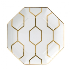 Arris Octagonal White Accent Plate by Wedgwood
