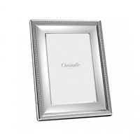 Perles Silver Plated 8x10 Frame by Chirstofle