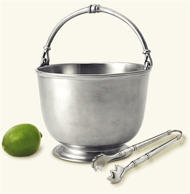 Bar Ice Bucket with Tongs by Match Pewter
