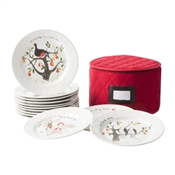 Twelve Days of Christmas Dessert/Salad Plate Set by Juliska
